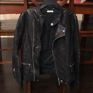 Helmet Lang black leather jacket